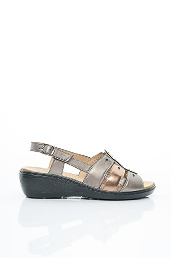 Chaussures de confort rose FARGEOT pour femme