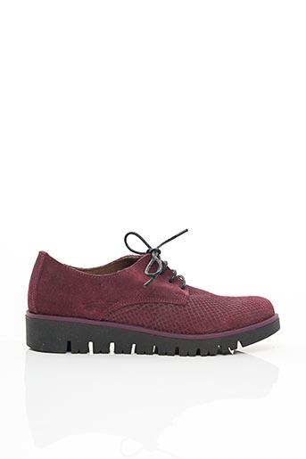 Chaussures de confort rouge BRAN'S pour femme