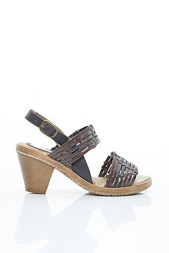 Sandales/Nu pieds marron ELLES-MEMES pour femme