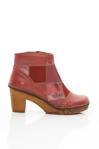 Bottines/Boots orange ART pour femme