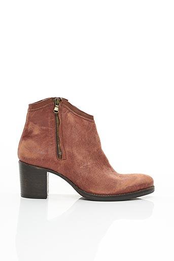 Bottines/Boots rouge B CONFITURE pour femme