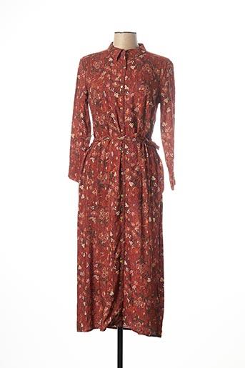 Robe longue orange KANOPE pour femme