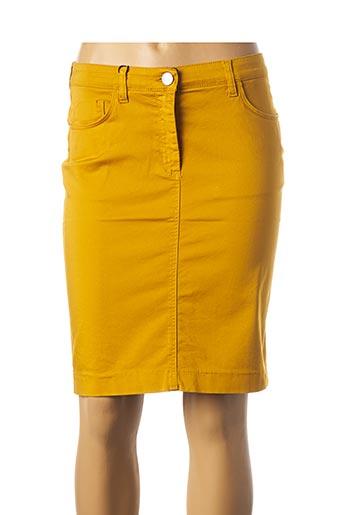 Jupe courte jaune EAST DRIVE pour femme