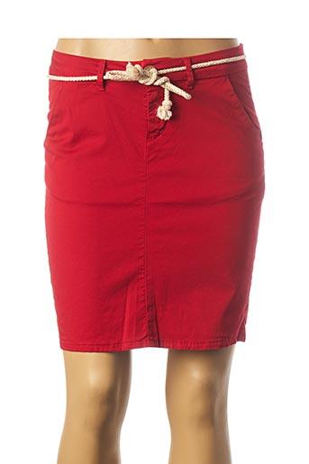 Jupe courte rouge KANOPE pour femme
