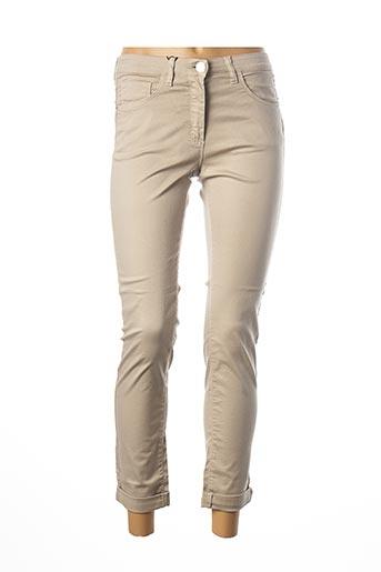Pantalon casual beige EAST DRIVE pour femme