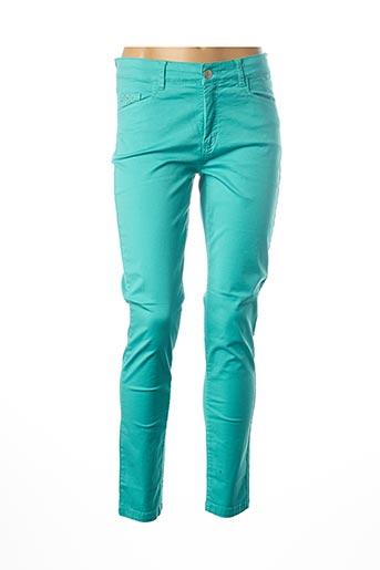Pantalon casual bleu PAUL BRIAL pour femme