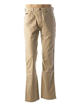 Pantalon casual beige WRANGLER pour homme
