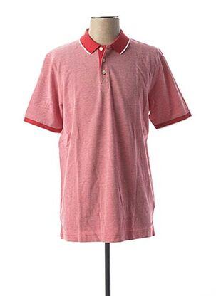 Polo manches courtes rouge MARVELIS pour homme