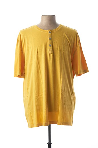 T-shirt manches courtes jaune CAMEL ACTIVE pour homme