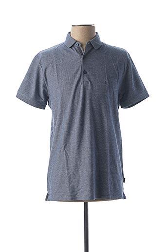 Polo manches courtes bleu WRANGLER pour homme