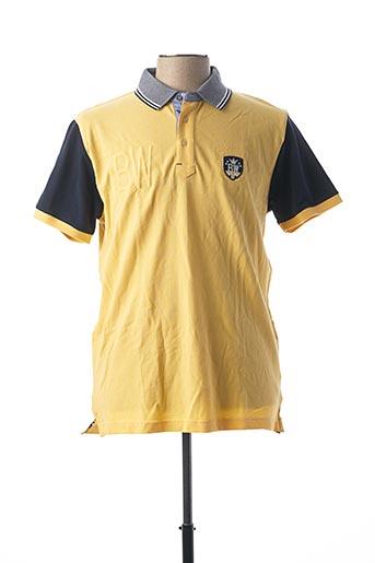 Polo manches courtes jaune BLACK WELLIS pour homme