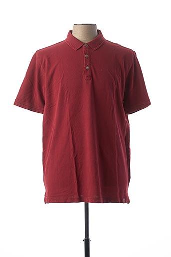 Polo manches courtes rouge CAMEL ACTIVE pour homme