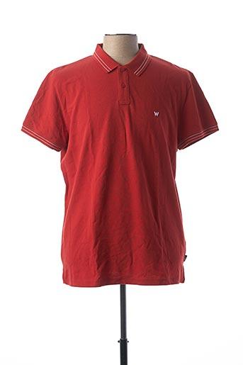 Polo manches courtes rouge WRANGLER pour homme