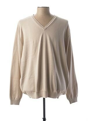 Pull col V beige BELLONI pour homme