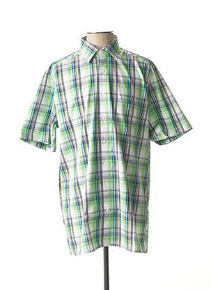 Chemise manches courtes vert MARVELIS pour homme