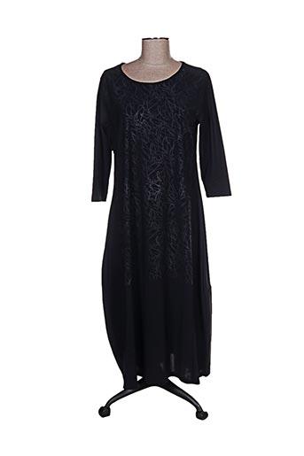 Robe mi-longue noir G!OZE pour femme
