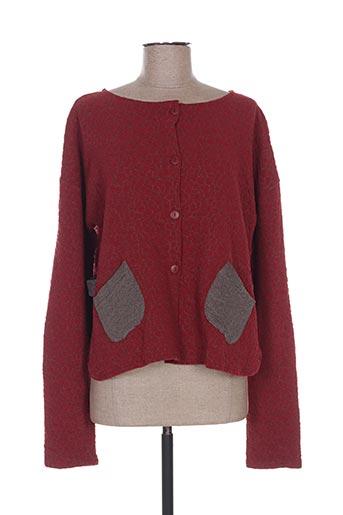 Veste casual rouge G!OZE pour femme