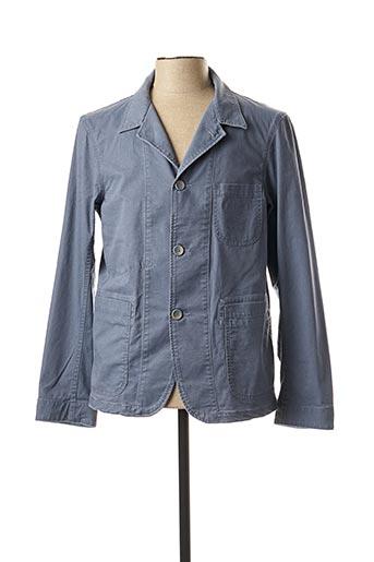 Veste casual bleu BRUNO SAINT HILAIRE pour homme