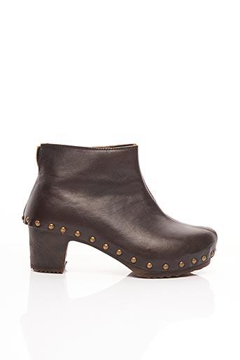 Bottines/Boots marron BOSABO pour femme