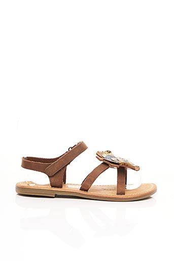 Sandales/Nu pieds marron KICKERS pour fille