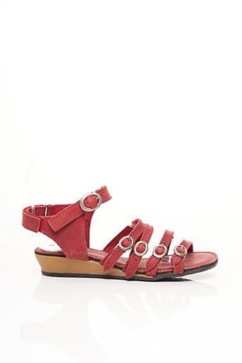 Sandales/Nu pieds rouge PALLADIUM pour fille