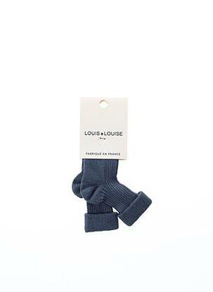 Chaussettes bleu LOUIS*LOUISE pour enfant