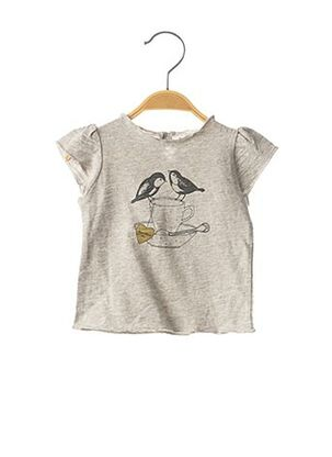 T-shirt manches courtes gris LOUIS*LOUISE pour fille