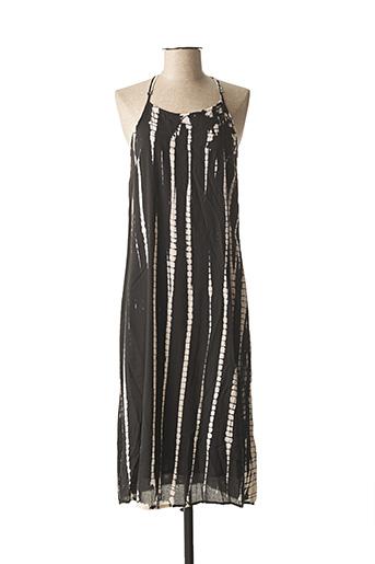 Robe mi-longue noir DDP pour femme