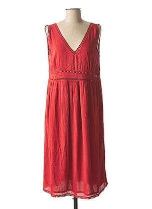 Robe mi-longue orange DDP pour femme