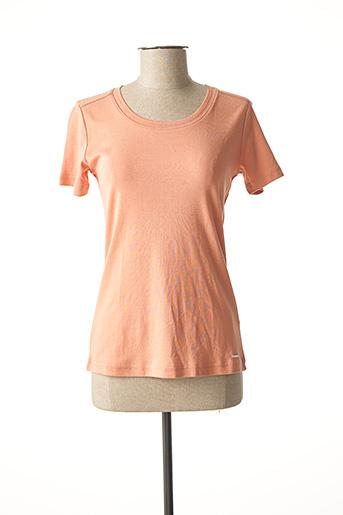 T-shirt manches courtes rose BRANDTEX pour femme