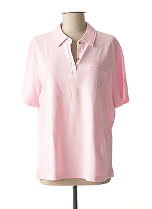 Polo manches longues rose BRANDTEX pour femme