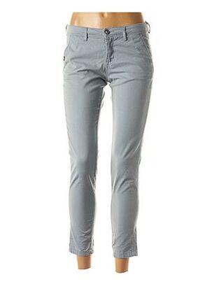 Pantalon 7/8 bleu TEDDY SMITH pour femme