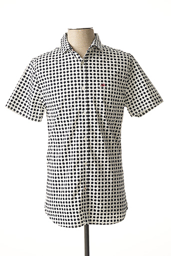 Chemise manches courtes blanc TIBET pour homme