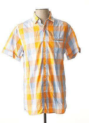 Chemise manches courtes orange TIBET pour homme