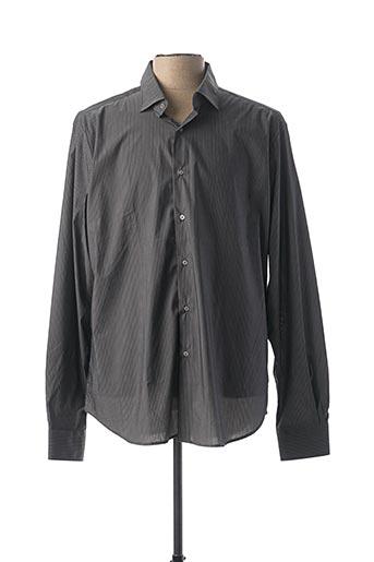Chemise manches longues gris BLUSALINA pour homme