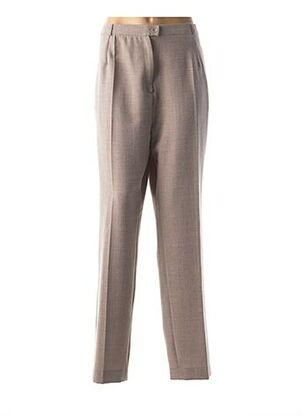 Pantalon chic marron ANNE KELLY pour femme