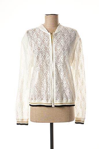 Veste casual blanc DEVERNOIS pour femme