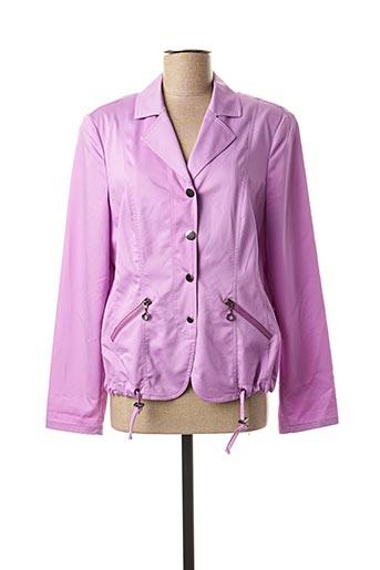 Veste casual violet FRANK WALDER pour femme