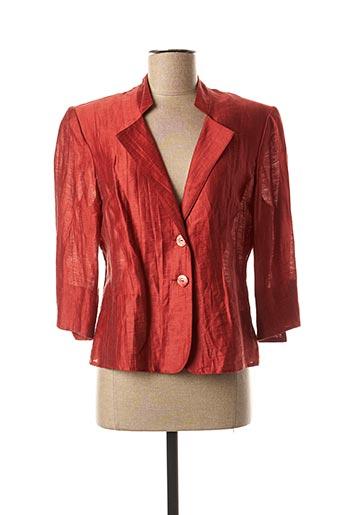 Veste chic / Blazer marron FRANCOISE pour femme