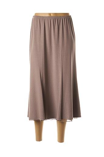 Jupe mi-longue marron RABE pour femme