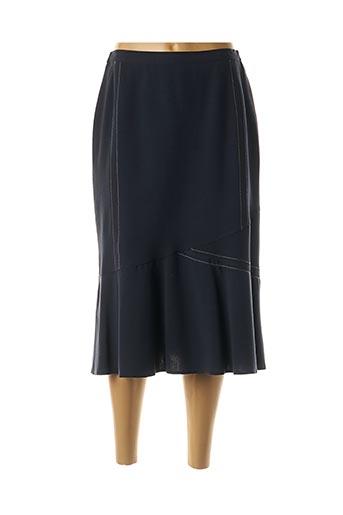 Jupe mi-longue bleu FRANCOISE pour femme