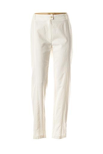 Pantalon casual blanc WEINBERG pour femme