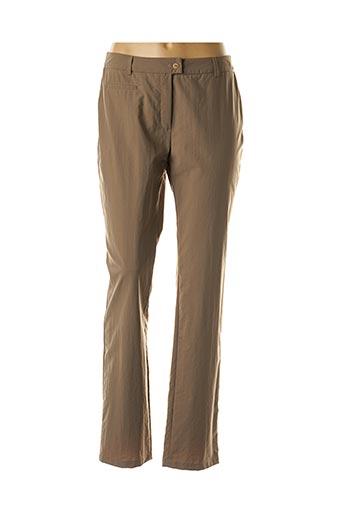 Pantalon casual vert WEINBERG pour femme