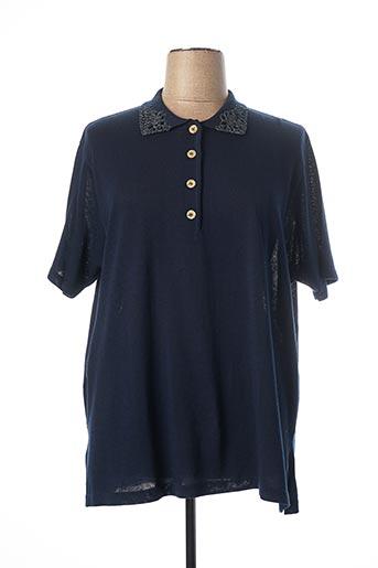 Pull col chemisier bleu WATTENDORF pour femme