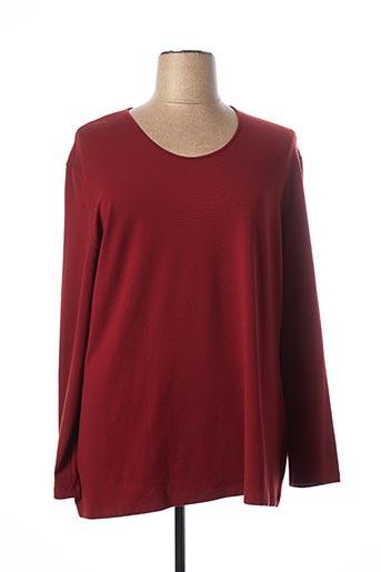 T-shirt manches longues rouge ELENA MIRO pour femme