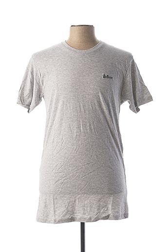 T-shirt manches courtes gris LEE COOPER pour homme