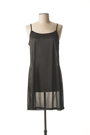 Jupon /Fond de robe noir MASSANA pour femme