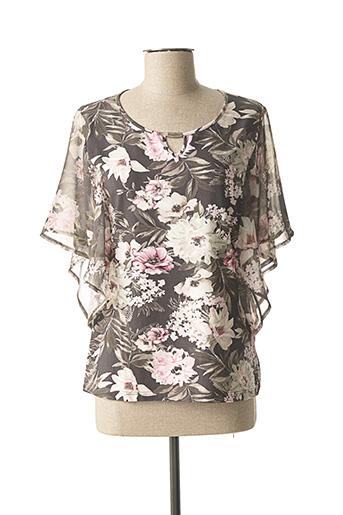 T-shirt manches courtes noir FRANK WALDER pour femme