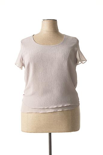 T-shirt manches courtes gris ANNE KELLY pour femme