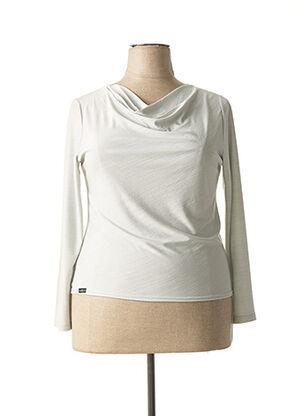T-shirt manches longues gris ANNE KELLY pour femme